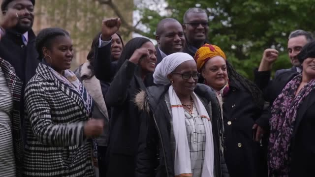 victims of the windrush injustice received a personal apology from an immigration minister this afternoon as they visited parliament for the first... - victim stock videos & royalty-free footage
