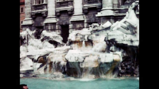 1960 victor emmanuel monument - trevi fountain - rome, italy home movie - monument stock videos & royalty-free footage