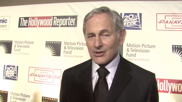 victor garber on being a part of the evening what he's performing tonight at the 'a fine romance' to benefit the motion picture television fund at... - motion picture & television fund stock videos & royalty-free footage