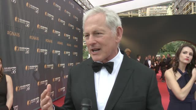 interview victor garber on being out tonight on what he's most looking forward to at the ceremony on his most memorable moments from the week jokes... - week stock videos and b-roll footage