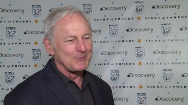 interview victor garber on what it means to be here at the natural resources defense council presents night of comedy benefit hosted by seth meyers... - seth meyers stock videos and b-roll footage