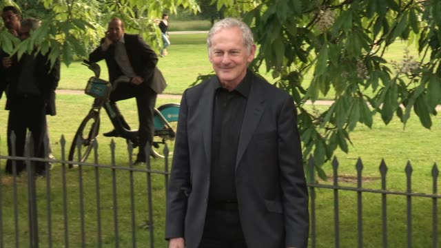 victor gerber arriving for the summer party at the serpentine gallery on june 26 2013 in london england - the serpentine gallery stock videos & royalty-free footage