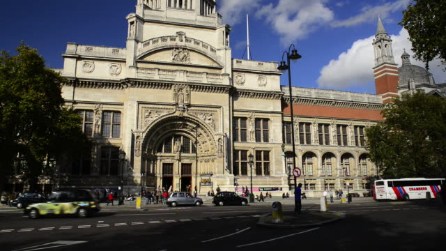 victoria and albert museum. the v & a. - victoria and albert museum london stock videos & royalty-free footage