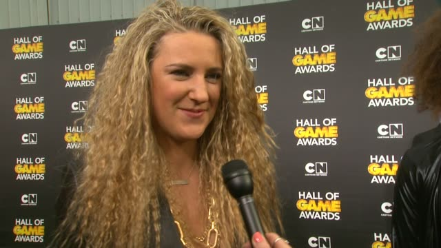 INTERVIEW Victoria Azarenka on the event and on her favorite sports at Cartoon Network Hosts Fourth Annual Hall Of Game Awards at Barker Hangar on...