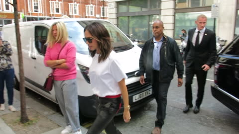 victoria beckham at bbc radio 2 at on september 04, 2018 in london, england. - celebrity sightings stock videos & royalty-free footage