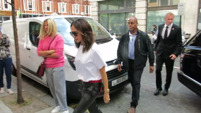 victoria beckham at bbc radio 2 at on september 04, 2018 in london, england. - bbc radio stock videos & royalty-free footage