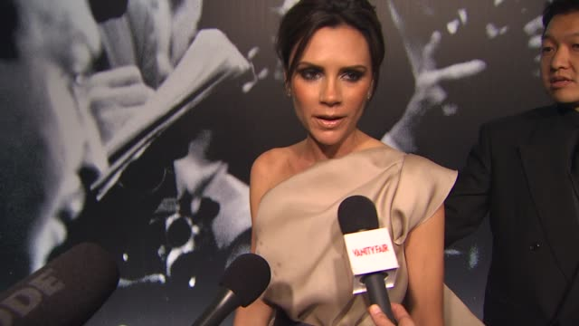 victoria beckham at the 2010 vanity fair oscar party hosted by graydon carter at west hollywood ca - graydon carter stock videos and b-roll footage