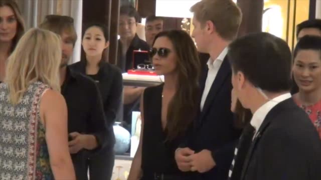 Victoria Beckham goes shopping at Shin Kong Place in Beijing at David and Victoria Beckham Visit China David and Victoria Beckham Visit China on June...