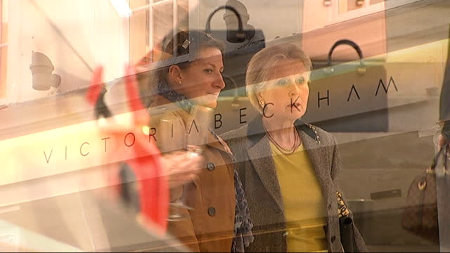 Victoria Beckham is named UNAIDS campaign Goodwill Ambassador ENGLAND London Mayfair INT General view of Victoria Beckham fashion store Close shot of...