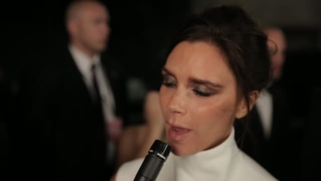 stockvideo's en b-roll-footage met interview victoria beckham on amfar at 2015 amfar hong kong gala at shaw studios on march 14 2015 in hong kong - amfar