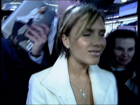 victoria beckham opens harrods sale itn victoria along as interviewed by nanaar sot david told me about her he was really desperate for me to meet... - 2002 stock videos & royalty-free footage