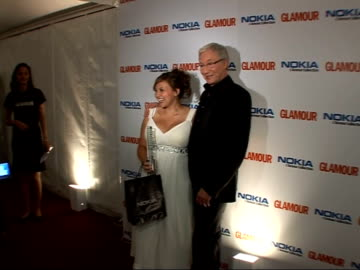 victoria beckham wins at glamour magazine awards: photocalls and interviews; charlotte church posing for photocall / church posing for photocall with... - charlotte church stock videos & royalty-free footage