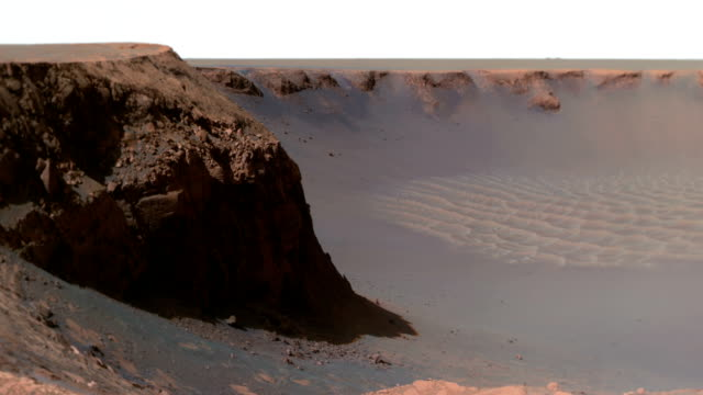 victoria crater on mars - opportunity stock videos & royalty-free footage