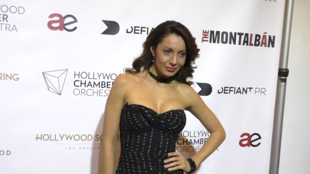 Victoria del Rosal at the Hollywood Chamber Orchestra debut performance at The Ricardo Montalban Theatre in Hollywood at Celebrity Sightings in Los...