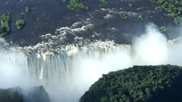 victoria falls. aerial view. - unesco world heritage site stock videos & royalty-free footage