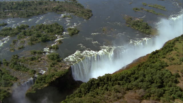 aerial victoria falls / africa - victoria falls stock videos and b-roll footage