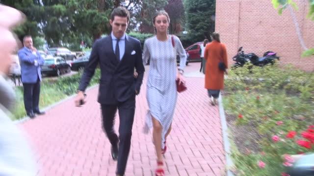 victoria federica and beltrán lozano attend influencers maría g de jaime and tomás paramo´s wedding - paramo stock videos and b-roll footage