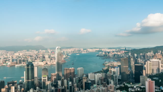 t/l victoria harbour, hong kong - victoria harbour hong kong stock videos & royalty-free footage