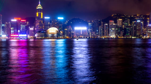 Victoria Harbour waterfront in Hong Kong