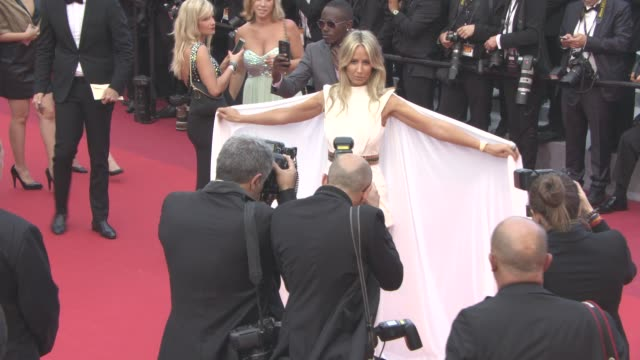 victoria hervey at 'money monster' red carpet on may 12 2016 in cannes france - international cannes film festival stock videos & royalty-free footage