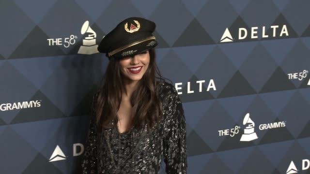 """victoria justice at delta air lines toasts grammy® weekend with """"sites and sounds"""", a private performance and interactive evening with grammy®... - victoria justice stock videos & royalty-free footage"""