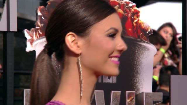 Victoria Justice at the 2014 MTV Movie Awards at Nokia Theatre LA Live on April 13 2014 in Los Angeles California