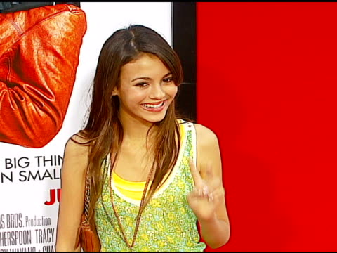 victoria justice at the 'little man' premiere at the mann national theatre in westwood california on july 6 2006 - 2006 stock videos & royalty-free footage