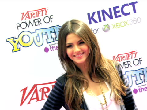 victoria justice at the variety's power of youth 2010 at hollywood ca. - victoria justice stock videos & royalty-free footage