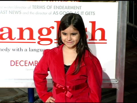 victoria luna at the 'spanglish' premiere at the mann village theatre in westwood california on december 9 2004 - spanglish stock videos & royalty-free footage
