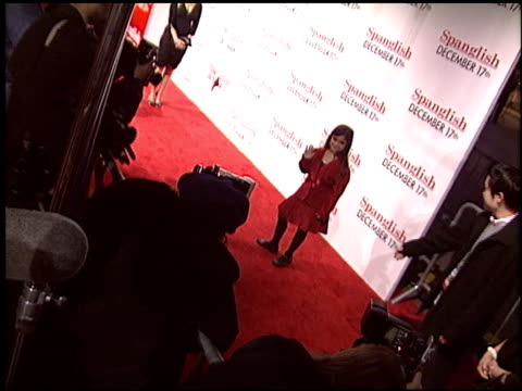victoria luna at the 'spanglish' premiere on december 9 2004 - spanglish stock videos & royalty-free footage