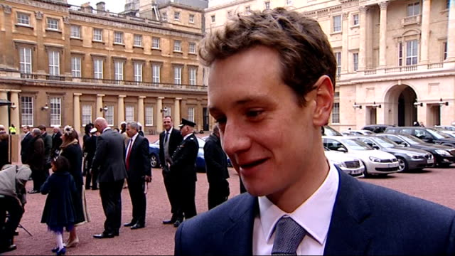 Victoria Pendleton and Alistair Brownlee receive honours at Buckingham Palace Interviews ENGLAND London Buckingham Palace INT Alistair Brownlee...