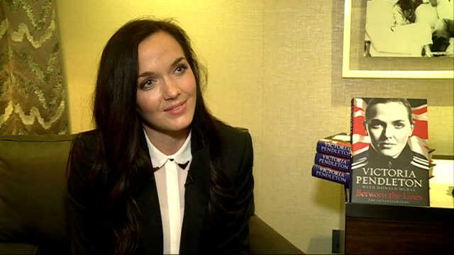 victoria pendleton autobiography book signing at harrods; england: london: harrods: int victoria pendleton interview sot - autobiography stock videos & royalty-free footage