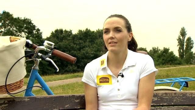 Victoria Pendleton promotes scenic Cycling Routes Victoria Pendleton interview SOT