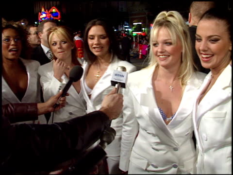 Victoria Posh Spice Beckham at the 'Spice World' Premiere at Grauman's Chinese Theatre in Hollywood California on January 22 1998