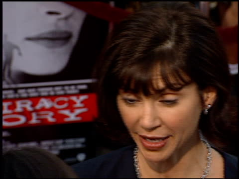 victoria principal at the 'conspiracy theory' premiere at the mann village theatre in westwood, california on august 4, 1997. - regency village theater stock videos & royalty-free footage