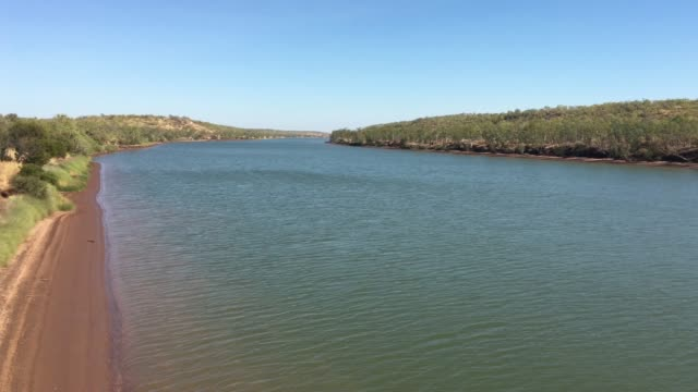 victoria river timber creek northern territory australia - northern territory australia stock videos & royalty-free footage