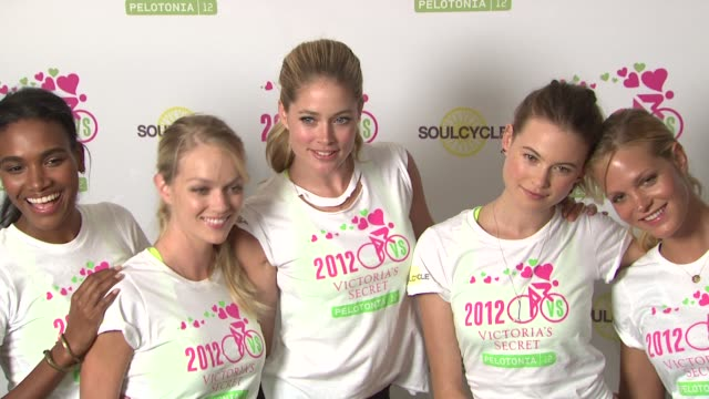 victoria secret 2nd annual supermodel cycle benefiting cancer research at soulcycle upper east side on july 11 2012 in new york new york - supermodel stock videos and b-roll footage