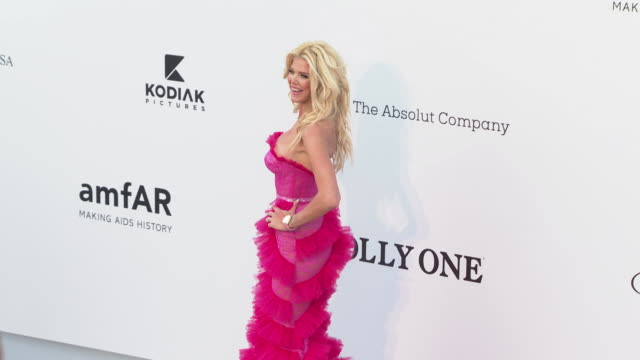 Victoria Silvstedt at the amfAR Cannes Gala 2019 Arrivals at Hotel du CapEdenRoc on May 23 2019 in Cap d'Antibes France