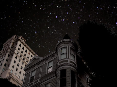 victorian house at night - victorian stock videos & royalty-free footage