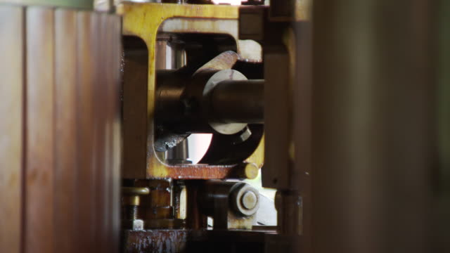 victorian machinery at papplewick pumping station - pumping station stock videos & royalty-free footage