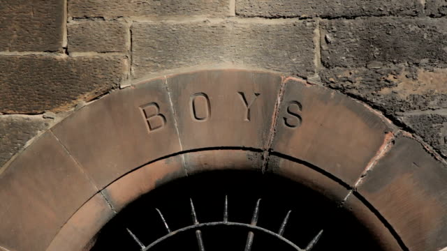 victorian school entrance for boys only - patriarchy stock videos & royalty-free footage