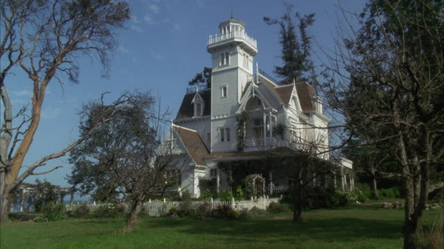 ws victorian style house - 19th century style stock videos and b-roll footage