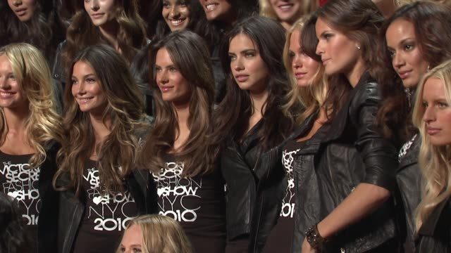 victoria's secret angels at the the victoria's secret fashion show preview at new york ny. - izabel goulart stock videos & royalty-free footage