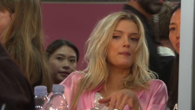 victoria's secret fashion show 2016 general views models / jasmine tookes / general views models lameka fox interview sot general views backstage... - gigi hadid stock videos & royalty-free footage