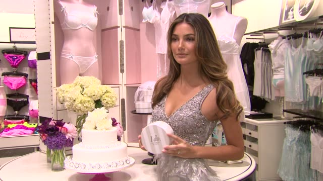 victoria's secret introduces the new 'sexy little bride' collection, new york, ny, united states. - イベントまとめ動画点の映像素材/bロール