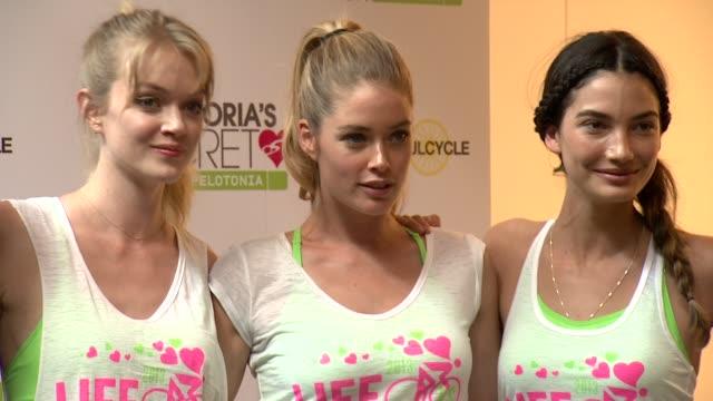 Victoria's secret models Elsa Hosk Alessandra Ambrosio Magdalena Frackowiak Gracie Carvalho Lindsay Ellingson Doutzen Kroes and Lily Aldridge at...