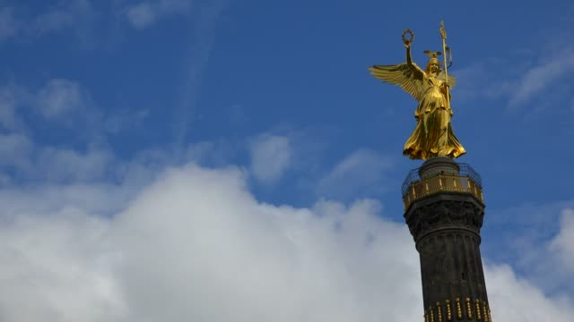 victory column (siegessaeule) at grosser stern, berlin, germany, europe - germany stock videos & royalty-free footage