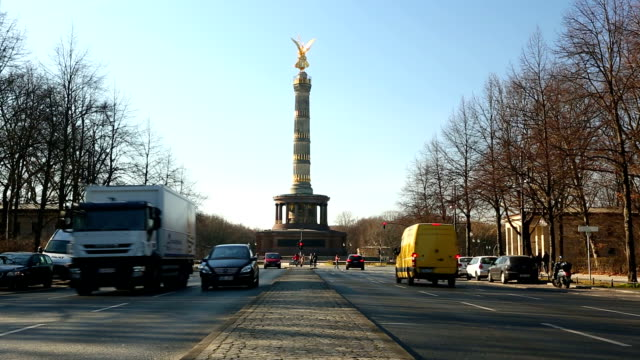 siegessäule (berlin) - germany stock videos & royalty-free footage