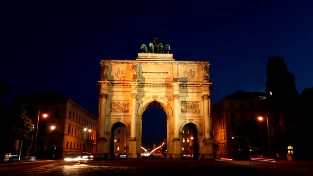 victory gate in munich - bavaria stock videos & royalty-free footage