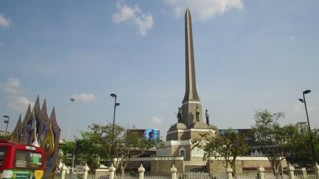 victory monument bangkok. - bust sculpture stock videos and b-roll footage